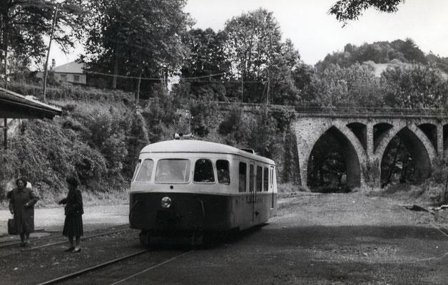 Tarn-070 : Vabre. 2 septembre 1956. Autorail Billard A80D. Cliché Jacques Bazin