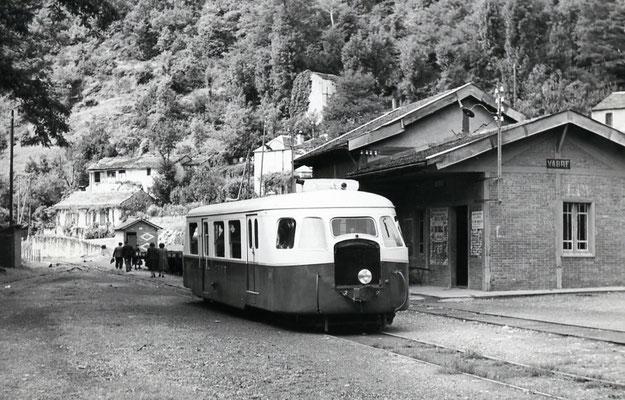 Tarn-069 : Vabre. 2 septembre 1956. Autorail Billard A80D. Cliché Jacques Bazin