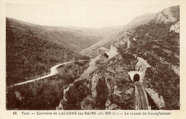 Tarn-106 : Près de Lacaune-les-Bains. Tunnel du Gourqfumant
