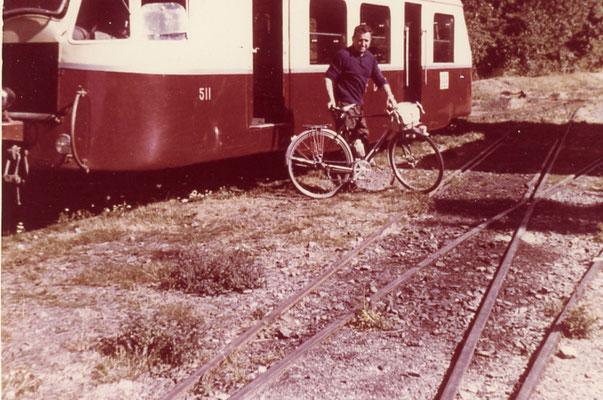 Tarn-125 : Murat-sur-Vèbre. 1962. Autorail Billard A80D. Cliché Rose Salvaire