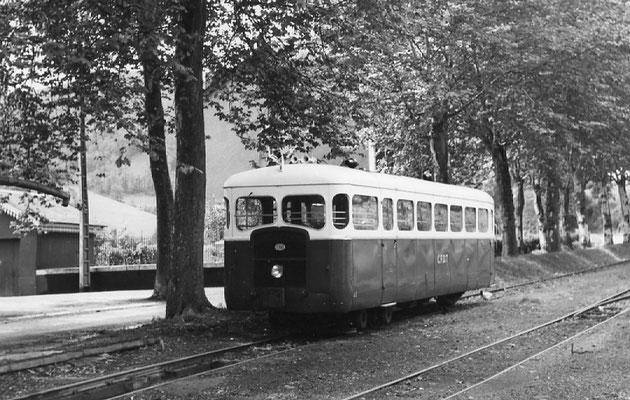 Tarn-082 : Pierre-Ségade. 2 septembre 1956. Autorail Verney SCF. Cliché Jacques Bazin