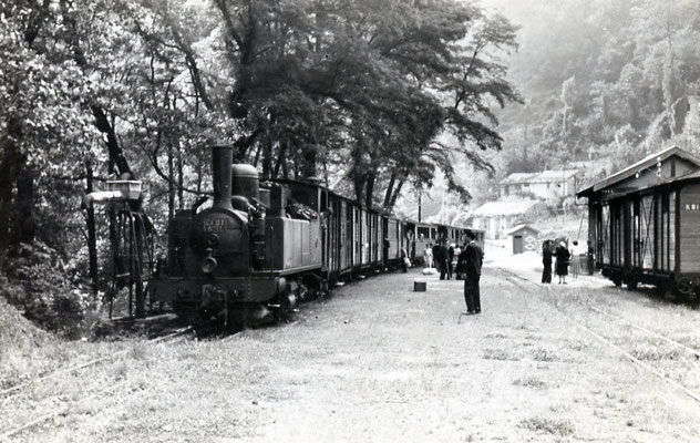 Tarn-068 : Vabre. 27 juin 1953. Locomotive 130T n°11. Cliché Jacques Bazin