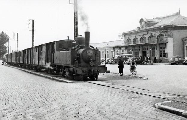 Tarn-031 : Castres-Gare. 27 juin 1953. Locomotive 130T n°11. Cliché Jacques Bazin