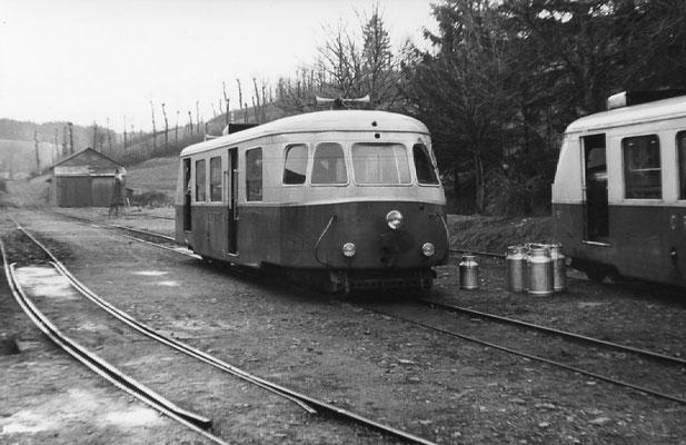 Tarn-100 : Lacaune-les-Bains. 30 décembre 1962. AutorailBillard A80D. Cliché Rose Salvaire