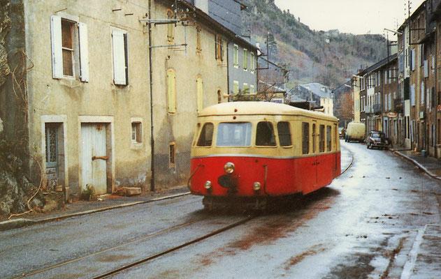 Tarn-085 : Pierre-Ségade. 29 décembre 1962. Autorail Billard A80D. Cliché Jacques Bazin