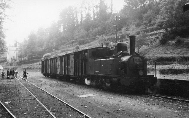 Tarn-078 : Pierre-Ségade. 27 juin 1953. Locomotive 131T n°11. Cliché Jacques Bazin