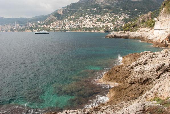 Blick auf Monaco vom Cap Martin