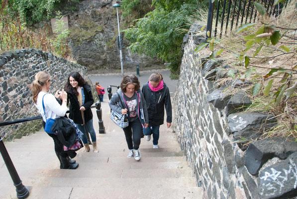 Aufstieg zum Calton Hill