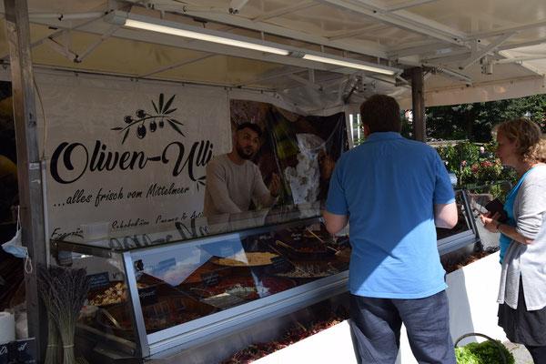 Marktstand auf dem Osterholzer Wochenmarkt