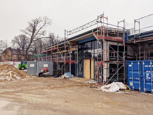 Combi Scheessel  Supermarkt Baustelle März 2021