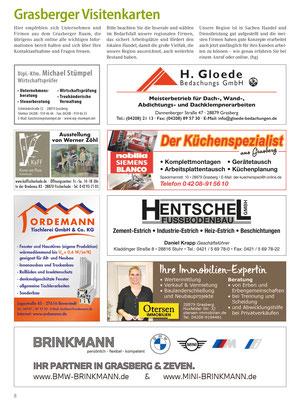 Grasberger Unternehmen: Regioanle Unternehmen empfehlen sich.