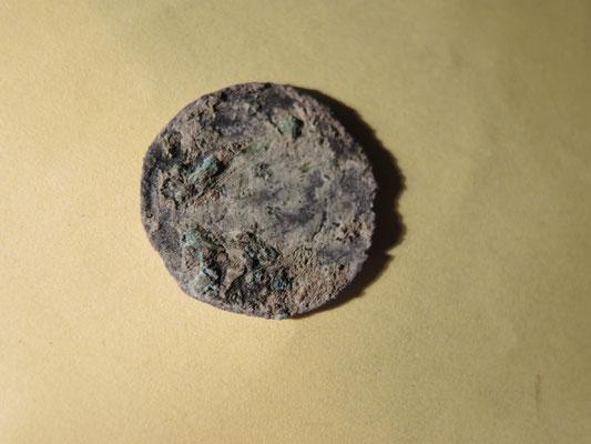 pièce de monnaie : denier de la fin du XIIe siècle