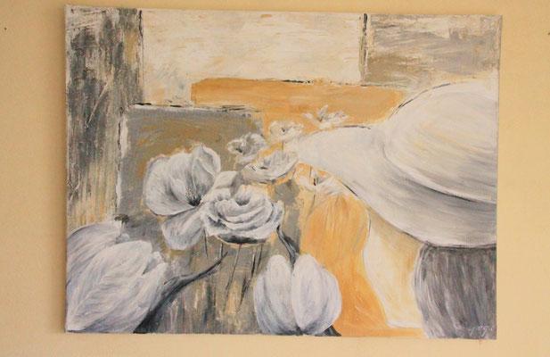 60 x 80 cm Acryl und Paste auf Leinwand