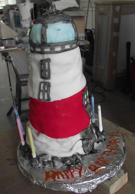 Lighthouse cake made by my sister!