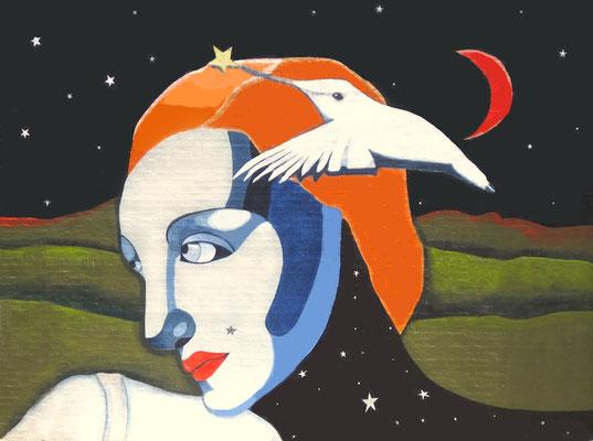 Nyx, Goddess of Night  Mural 22'  high x 16' wide