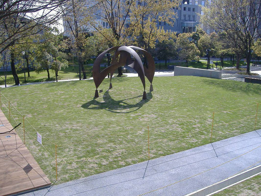 大学の芝生広場