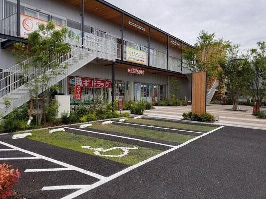 商業施設の駐車場緑化