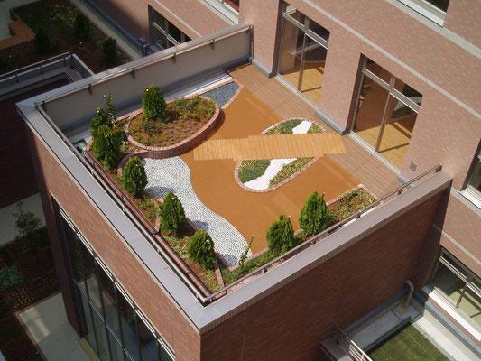 有料老人ホームの屋上緑化