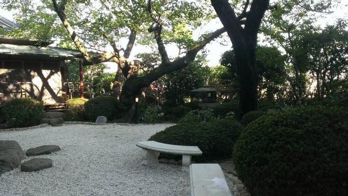 結婚式場の庭