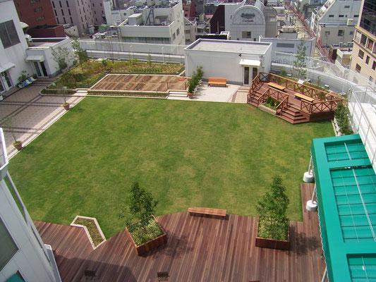 商業施設の屋上緑化