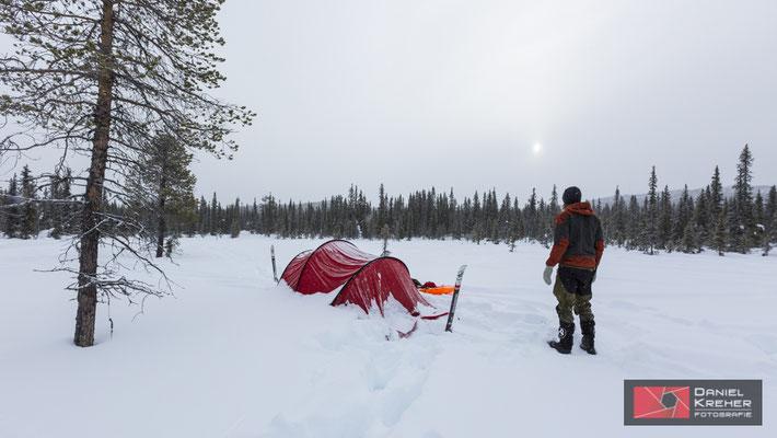 Mein erster Zeltplatz, kurz nach Kvikkjokk