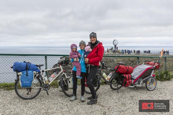 Mit dem Fahrrad und Kinder ans Nordkap, wir haben es geschafft