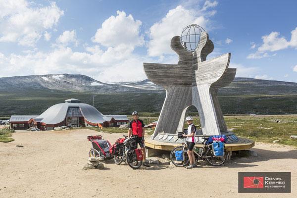 Mit dem Fahrrad am Polarkreis