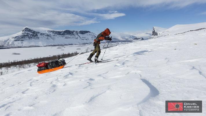 Vor dem Skierffe am Hang