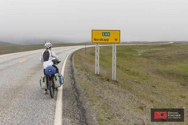 Schild ans Nordkap