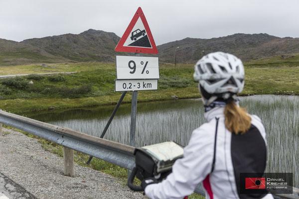 Letzte Steigung ans Nordkap