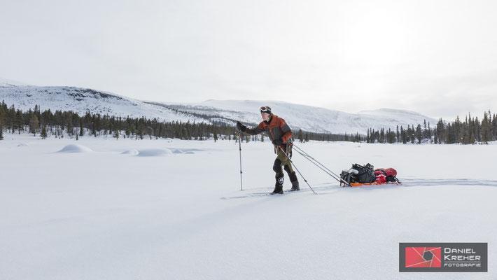 Auf Skitour auf dem Kungsleden