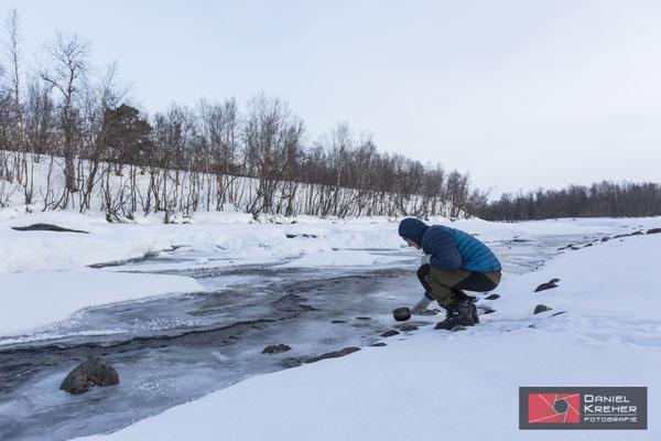 Wasserholen bei -22°C