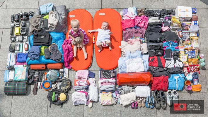 Ausrüstung für unsere Fahrradtour mit den Kindern ans Nordkap