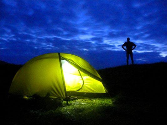 Mein Zeltplatz vor der Düne