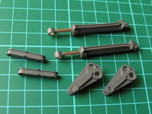 Hyraulikzylinder und Kleinteile für die Umlenkung des Löffels
