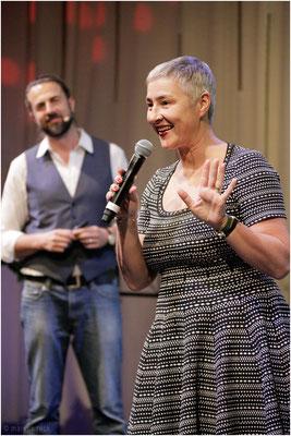 ANDREA zusammen mit VEIT auf der Bühne
