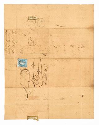 Brief von Richard Frére, Horloger á Morez, 1860, Briefhülle