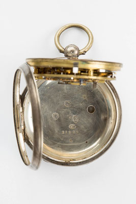 englische Taschenuhr Camerer, Kuss & Co, Punzen London 1880