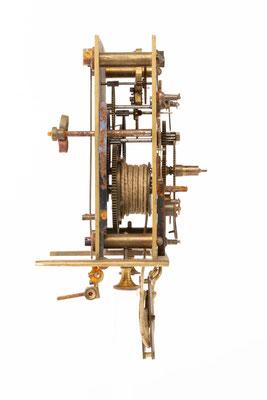 Regulator Uhrwerk, Furderer, Jaegler & Cie, Strasbourg, Seitenansicht von links