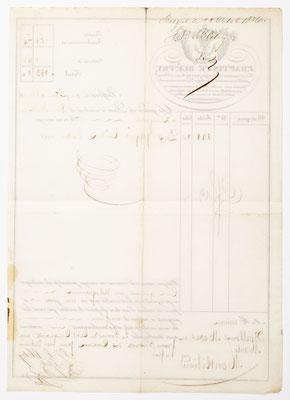 Brief an Boilloux, Moser und Marti in Montbéliard, 28. Oktober 1836