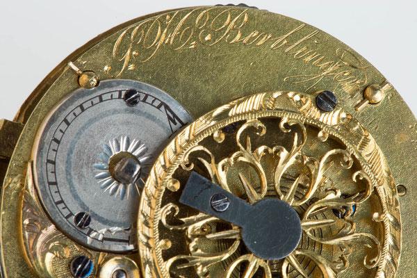 Signatur des Uhrmachers G. H. Berblinger