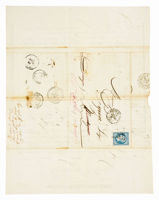 Richard Frére, Horloger á Morez 15.03.1867, Briefhülle