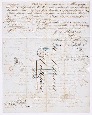 25. Januar 1846, Brief von S. Marti (Paris) an S. Marti & Cie. (Montbéliard), Inhalt 2