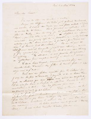 06. Mai 1844, Brief von S. Marti & Cie. (Paris) an S. Marti & Cie. (Montbéliard), Inhalt 1