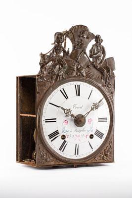 Comptoise Uhr, Frankreich um 1850, Vorderansicht