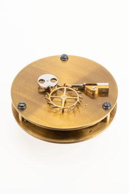 Chronometergang mit Gangfeder, Uhrmacherschule Furtwangen, um 1925, nach der Restaurierung ohne Dose
