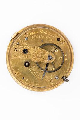 Englische Taschenuhr von Lickert, Ketterer & Co. in Norwich, um 1885, Uhrwerk