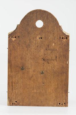 8-Tage Uhrwerk - Rückseite mit Signatur - Fidel Krieger Uhrenmacher in Lenzkirch (Schwarzwald) um 1850
