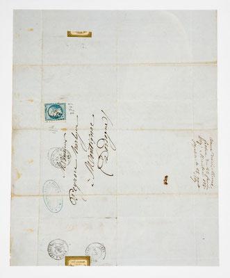 Morel & Fils, Horloger á Morbier 27.02.1867, Briefhülle