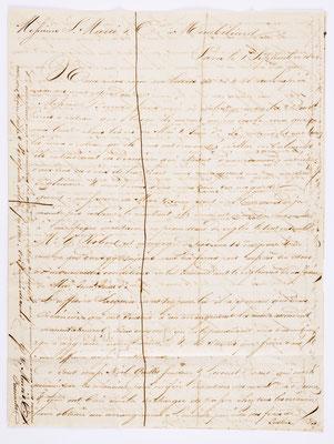 01. September 1844, Brief von S. Marti & Cie. (Paris) an S. Marti & Cie. (Montbéliard), Inhalt 1
